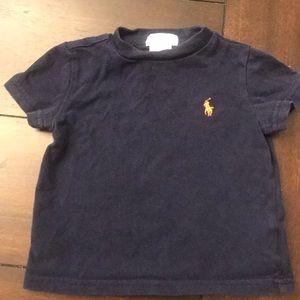 Ralph Lauren Navy Blue short Sleeve Shirt 9m